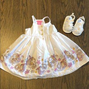 White mermaid toddler dress